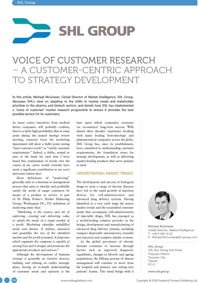Articles Ondrug Shl October 2018 Voice Of Customer Research A Customer Centric Approach To Strategy Development 1