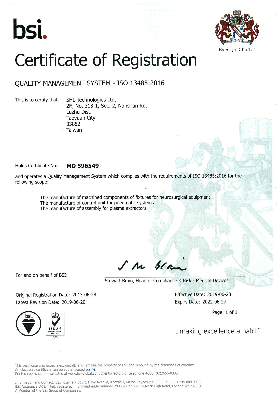 ISO 13485 Certificate_MD 516137_2019-2022 rev20190425 (scanned copy)
